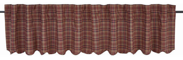 Parker Scalloped Valance Lined, 16x90.