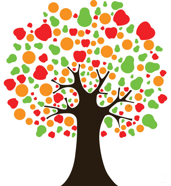 Modern Fruit Tree Wall Decal Contemporary Wall Decals