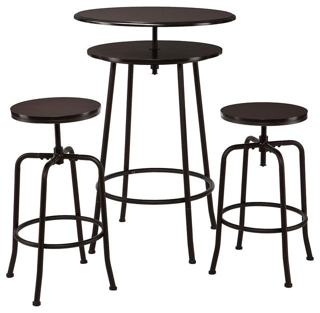 holly martin kalomar 3pc adjustable pub table stools