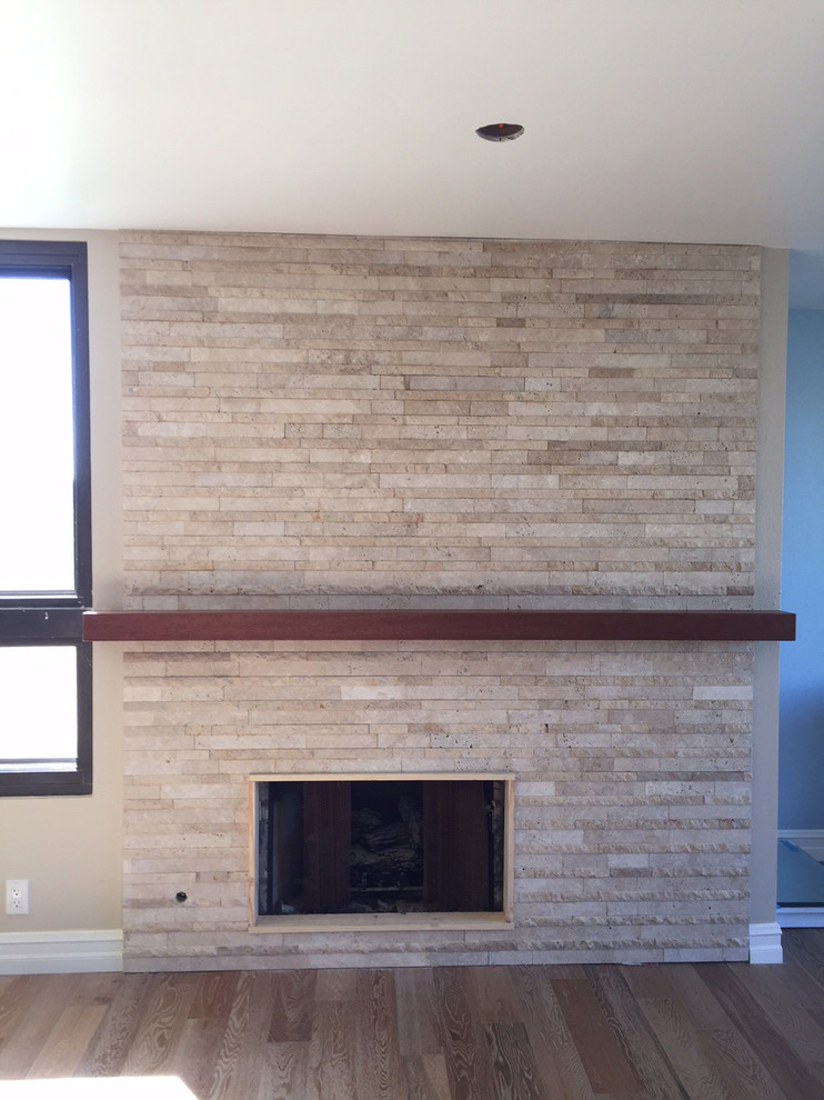 New Fireplace & mantel in process.