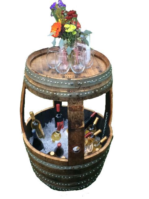 Wine Barrel Ice Chest.