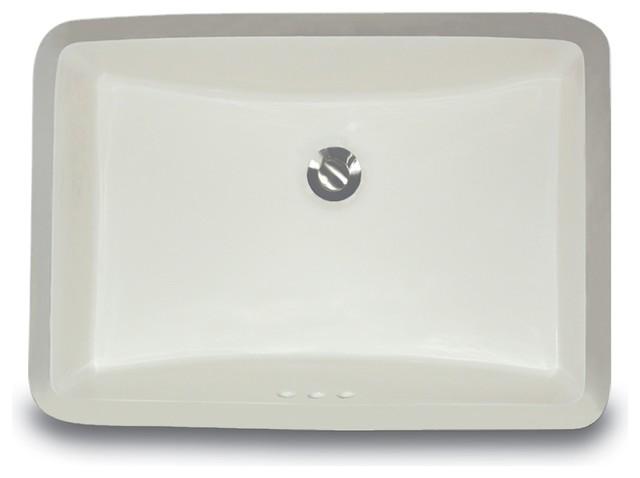 Bisque Nantucket Sinks UM-17x14-B-K Oval Ceramic Undermount Vanity Sink 17-Inch by 14-Inch
