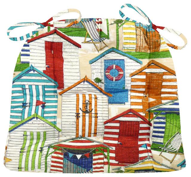 Superb Beach Huts Multi Patio Chair Cushions Beach Style Seat Cushions