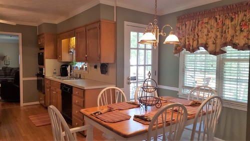 Kitchen wall paint color to complement medium stained maple cabinets. Paint Colors For Kitchen Walls With Maple Cabinets. Home Design Ideas