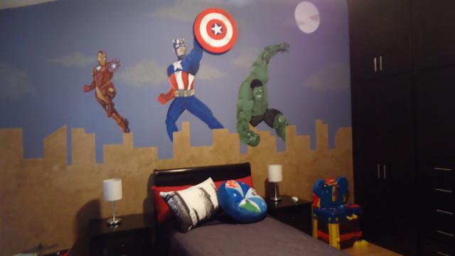 """Habitación temática """"avengers"""" para niño   contemporáneo ..."""