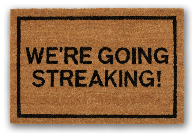 Clever doormats we 39 re going streaking brown doormat contemporary doormats by clever doormats - Clever doormats ...