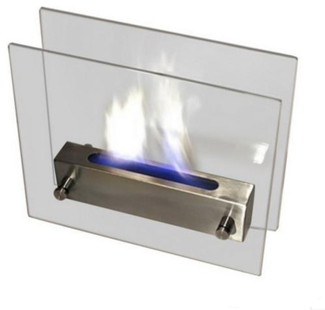 Nu-Flame Irradia Tabletop Fireplace In Stainless Steel.