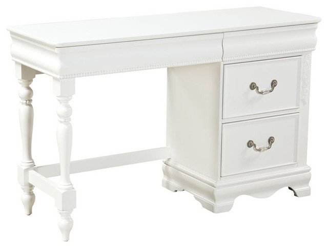 Standard Furniture Jessica 2 Drawer Kids Desk In White
