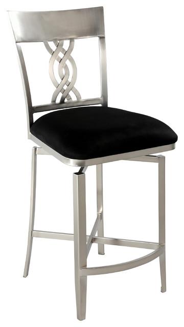 black swirl back memory swivel counter stool bar stools