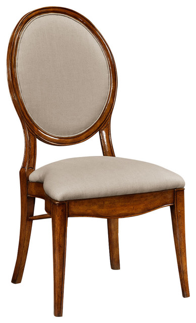 Jonathan Charles Spoon Back Upholstered Stacking Dining