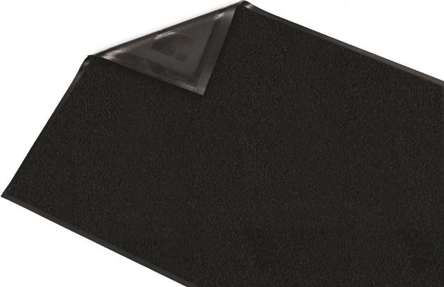 Guardian Platinum Series Indoor Wiper Floor Mat, 3&x27;x4&x27;, Black.