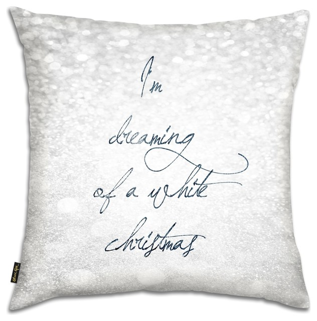 "Oliver Gal ""White Christmas"" Pillow, 18""x18"" - Decorative Pillows - by The Oliver Gal Artist Co."