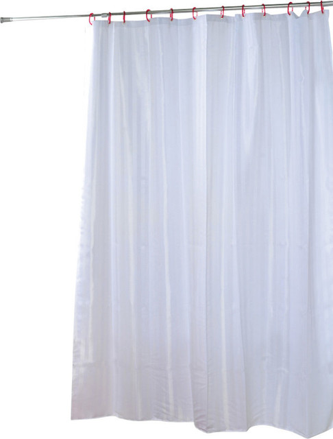 Shower Curtain Polyester Shiny Vertical Stripes