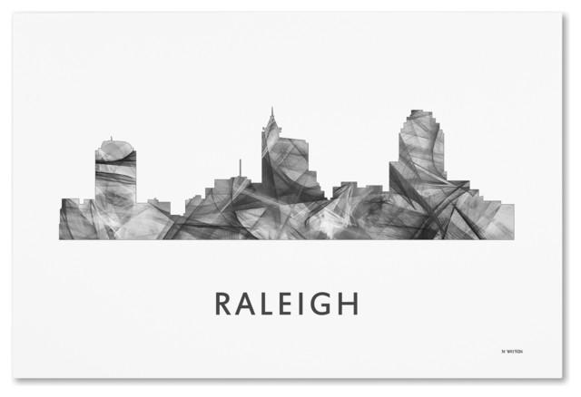 Marlene Watson Raleigh North Carolina Skyline Canvas Art