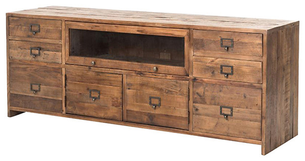 Gian Rustic Lodge Country Pine Media Console.