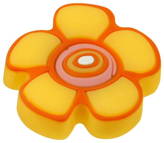 Hickory Hardware Kids Yellow Flower Cabinet Knob contemporary-cabinet ...