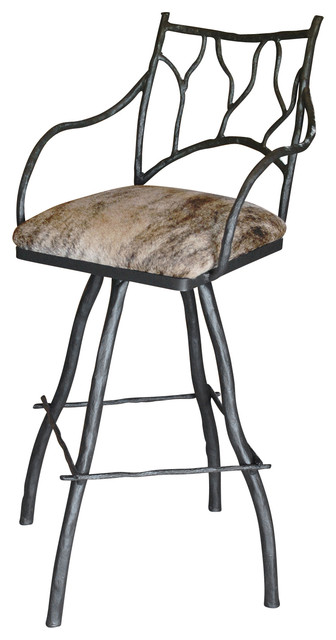 Large South Fork Branch 30 Quot Swivel Bar Stool With Arms