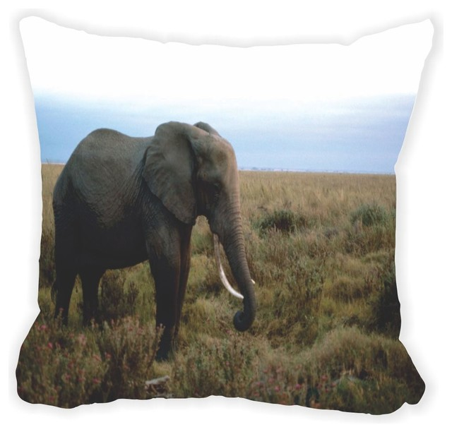 African elephant double sided 16 decor pillow African elephant home decor