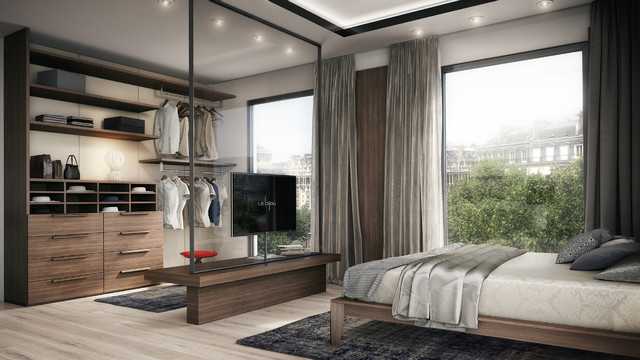le bijou studio apartment modern bedroom other by le bijou. Black Bedroom Furniture Sets. Home Design Ideas