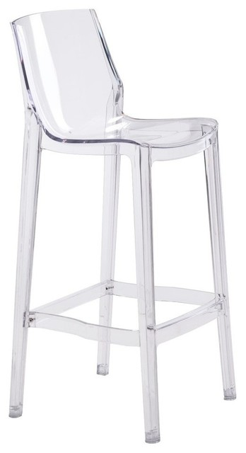 Modern Contemporary Bar Chair Set of 2 Clear Plastic contemporary-bar- stools  sc 1 st  Houzz & Modern Contemporary Bar Chair Set of 2 Clear Plastic ... islam-shia.org