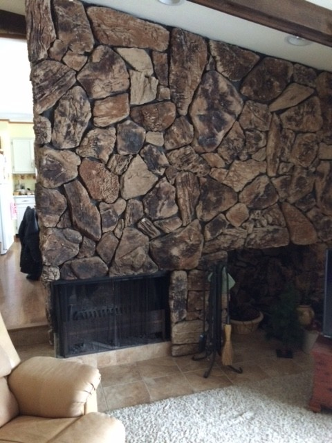 Help! what to replace lava rock fireplace
