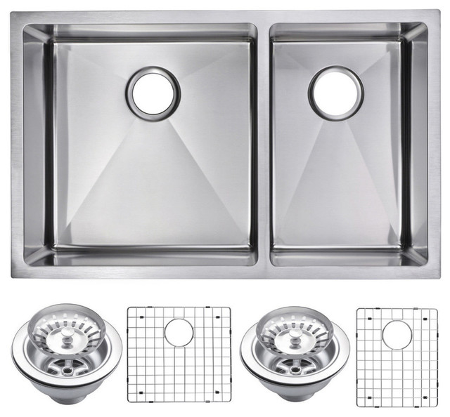 33 Quot X 20 Quot 60 40 Double Bowl Topmount Stainless Steel
