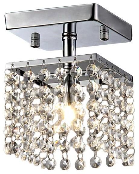 1-Light Semi Flush Mount, Dining/living Room Foyer Ceiling Light.