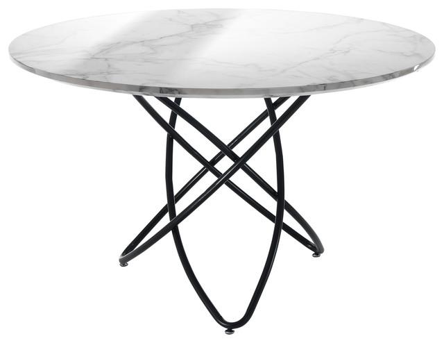 Hula-Hoop Round Marble Table