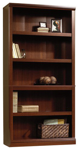 Sauder 5 Shelf Bookcase In Select Cherry Traditional Bookcases