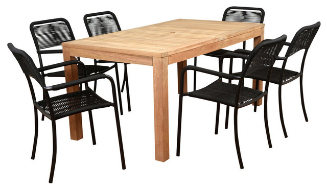 International Home Amazonia Oosterdam 7-Piece Patio Dining Set