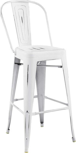 Galton Bar Side Stool, White by Evans & Londeen