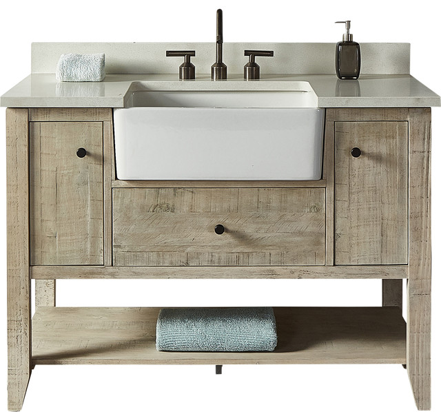 Fairmont Designs River View 48 Single Vanity Toasted Almond Base Cabinet Only Farmhouse Bathroom Vanities And Sink Consoles By Luxx Kitchen And Bath Houzz