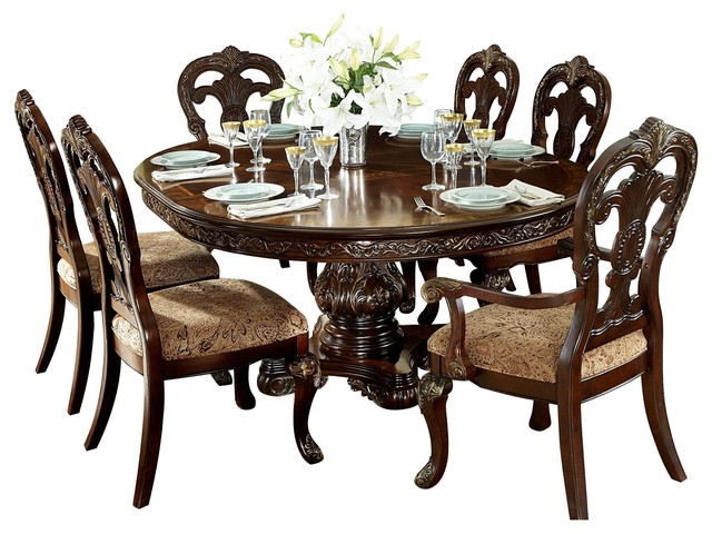 Round Oval Table 2 Arm 4 Side Chair
