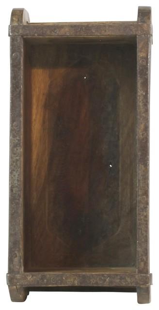 Vintage Wood Brick Mold Shadow Box Wall Shelf Hanging