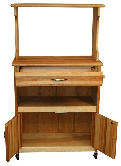 Wood Microwave Cart
