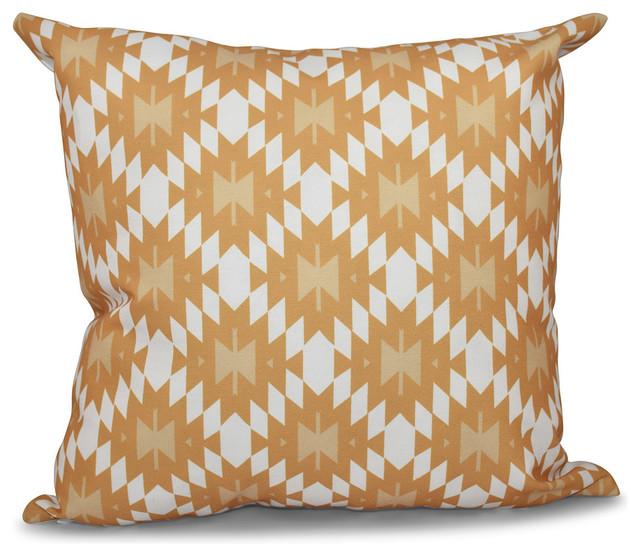 Jodhpur Kilim, Geometric Print Pillow - Eclectic - Decorative Pillows - by E by Design