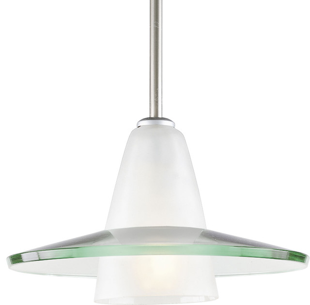 Progress Lighting 1-100W Medium Pendant, Brushed Nickel