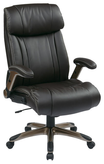 Executive Bonded Leather Chair In Cocoa/espresso.