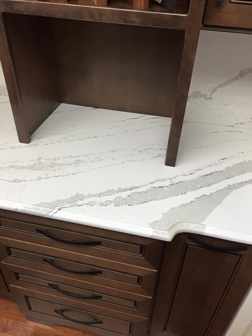 Showroom Updates: Our new Cambria Britannica Quartz top with full backsplash & an ogee edge has ...