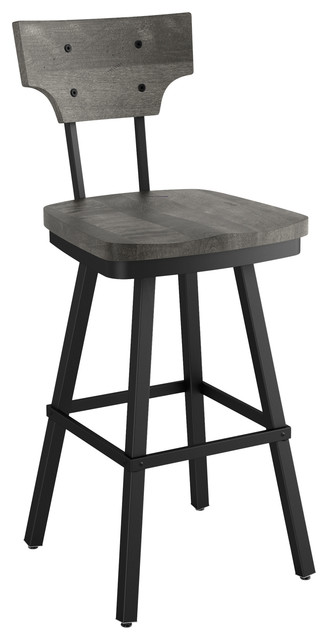 Fabulous Amisco Ferguson Swivel Stool Black Metal And Light Grey Wood Counter Height Ibusinesslaw Wood Chair Design Ideas Ibusinesslaworg