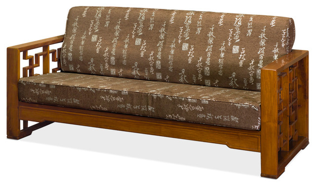 Chinese Rosewood Zi Sofa Couch Chair With Cushion