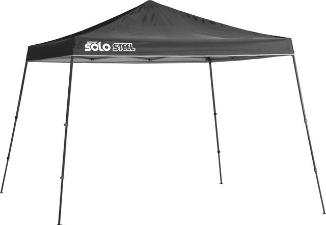 Solo Steel 90 11&x27;x11&x27; Slant Leg Canopy, Black.