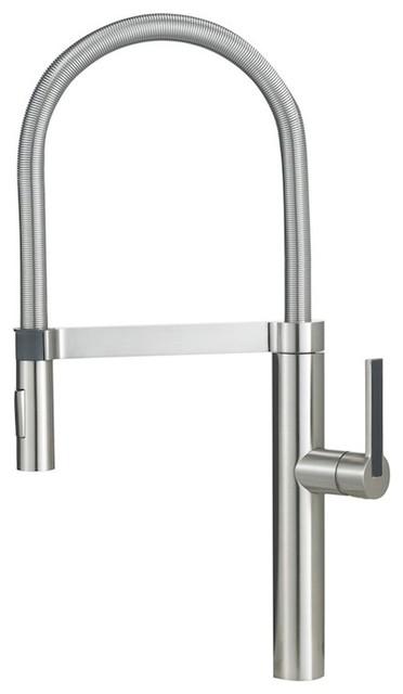 Shop Houzz Blanco U S Blanco Culina Semi Pro Chrome Kitchen Faucets