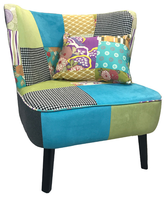Pacific Coastal Patchwork Occasional Chair Beach Style