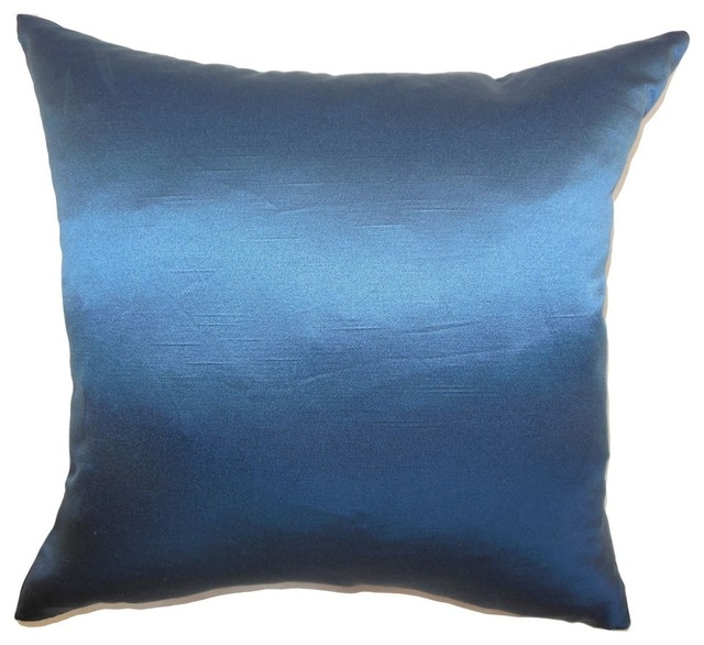 The Pillow Collection Inc. Karsen Plain Pillow Navy - Decorative Pillows Houzz
