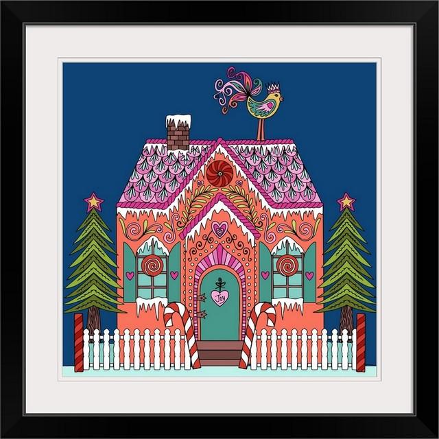 Gingerbread House Art Print Home Decor Wall Art Poster