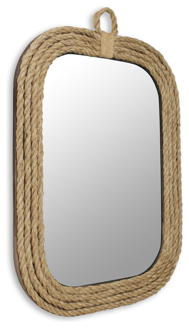 Nautical Rope Wall Mirror Beach Style Wall Mirrors By Cheungs