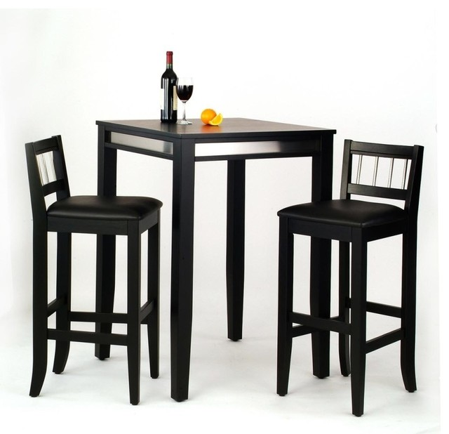 Wondrous Home Styles Manhattan 3 Piece Pub Set In Black Onthecornerstone Fun Painted Chair Ideas Images Onthecornerstoneorg