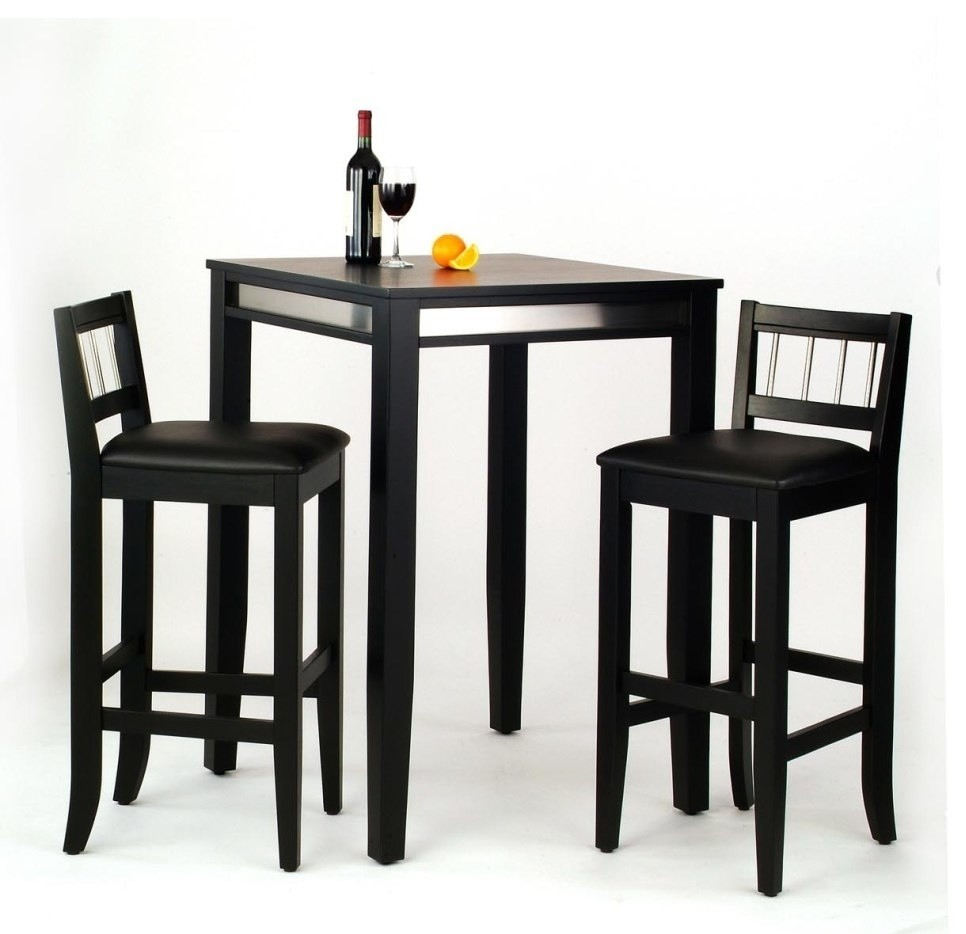 9 Piece Bistro Set Pub Table and Stools Modern Counter Height Bar ...
