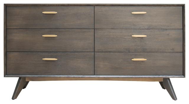 Modrest Novak Modern Dark Oak Dresser
